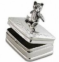 ezüst macis fogdoboz